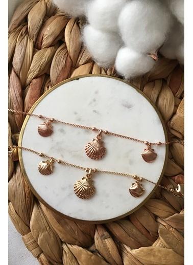 My Joyas Design Sallantılı Deniz Kabuğu Halhal Altın